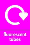 Fluorescent tubes signage - logo (portrait)