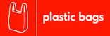 Plastic bags signage - carrier bag icon (landscape)