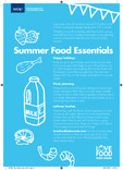 Tip card recipe reverse and poster,summer food essentials