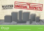 Recycle for London - Unusual Suspects - Glass and Metal - Flyer