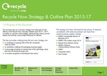 Recycle Now Strategy & Plan 2015-17