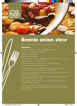 Recipes: Perfect portions,beanie onion stew