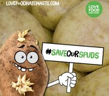 Save Our Spuds Campaign - #saveourspuds Banner - English and Welsh