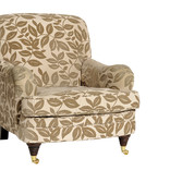 Armchair with leaf pattern