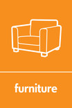 Furniture signage - couch icon (portrait)