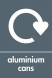 Aluminium cans signage - logo (portrait)