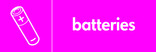 Batteries signage - battery icon (landscape)
