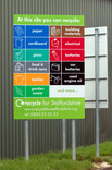 At this site you can recycle sign... at a Recycle for Staffordshire centre