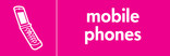 Mobile Phones signage - phone icon (landscape)