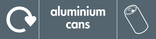 Aluminium cans signage - can icon with logo (landscape)