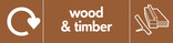Wood & Timber signage - wood icon (branch) with logo (landscape)