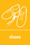 Shoes signage - shoes icon (portrait)