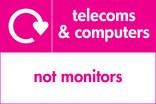 Telecoms & Computers signage - logo (landscape)