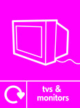 TVs & Monitors signage - TV icon with logo (portrait)