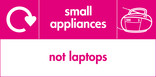 Small appliances (not laptops) signage - radio icon with logo (landscape)