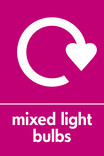 Mixed light bulbs signage - logo (portrait)