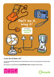 Don't bin it bring it - A4 poster for Summer