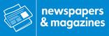 News & magazines signage - newspaper icon (landscape)