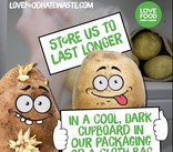 Save Our Spuds Campaign - Store Us To Last Banner - English and Welsh