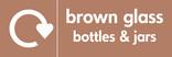 Brown glass signage - logo (landscape)