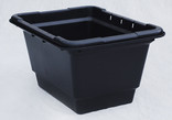 Black recycling container