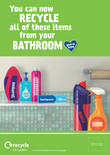 Recycle for London - Good to Know bathroom multi material poster A3