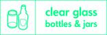 Clear glass signage - bottles & jars icon (landscape)