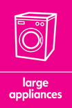 Large Appliances signage - washing machine icon (portrait)