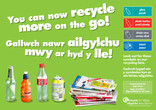 Recycle-on-the-go Wales poster/press ad A2 landscape