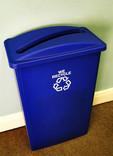 Office paper recycling bin - blue