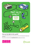Don't Bin it Bring it - A3 poster for Christmas