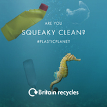 'Are you squeaky clean?' bathroom recycling video - seahorse