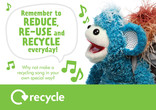 Key stage 1 and 2 recycling poster: recycling song