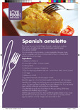 Recipes: Perfect portions,Spanish omlette