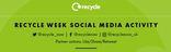 Recycle Week Social  Media Activity Calendar