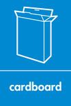 Cardboard signage - cardboard box icon (portrait)