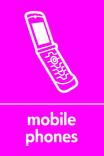 Mobile Phones signage - phone icon (portrait)