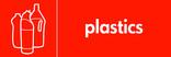 Plastics signage - bottles icon (landscape)