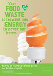 Food recycling - Orange - A3/A4 poster