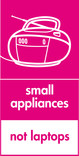 Small appliances (not laptops) signage - radio icon (portrait)