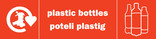 Plastic Bottles (500ml) signage - logo (landscape, English-Welsh)