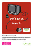 Don't Bin it Bring it - A4 poster for TVs