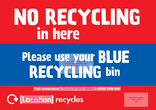 Recycle Now Urban Eurobin Residual Bin Sticker