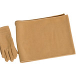 Women's neutral gloves and scarf