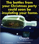 Seasonal glass bottles press ad - size 50x265