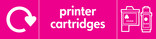 Printer Cartridges signage - cartridges icon with logo (landscape)