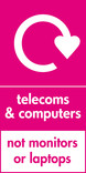 Telecoms & Computers (not monitors or laptops) signage - logo (portrait)