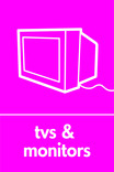TVs & Monitors signage - TV icon (portrait)