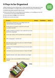 Training activities:- It pays to be organised - Question sheet