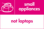 Small appliances (not laptops) signage - radio icon (landscape)